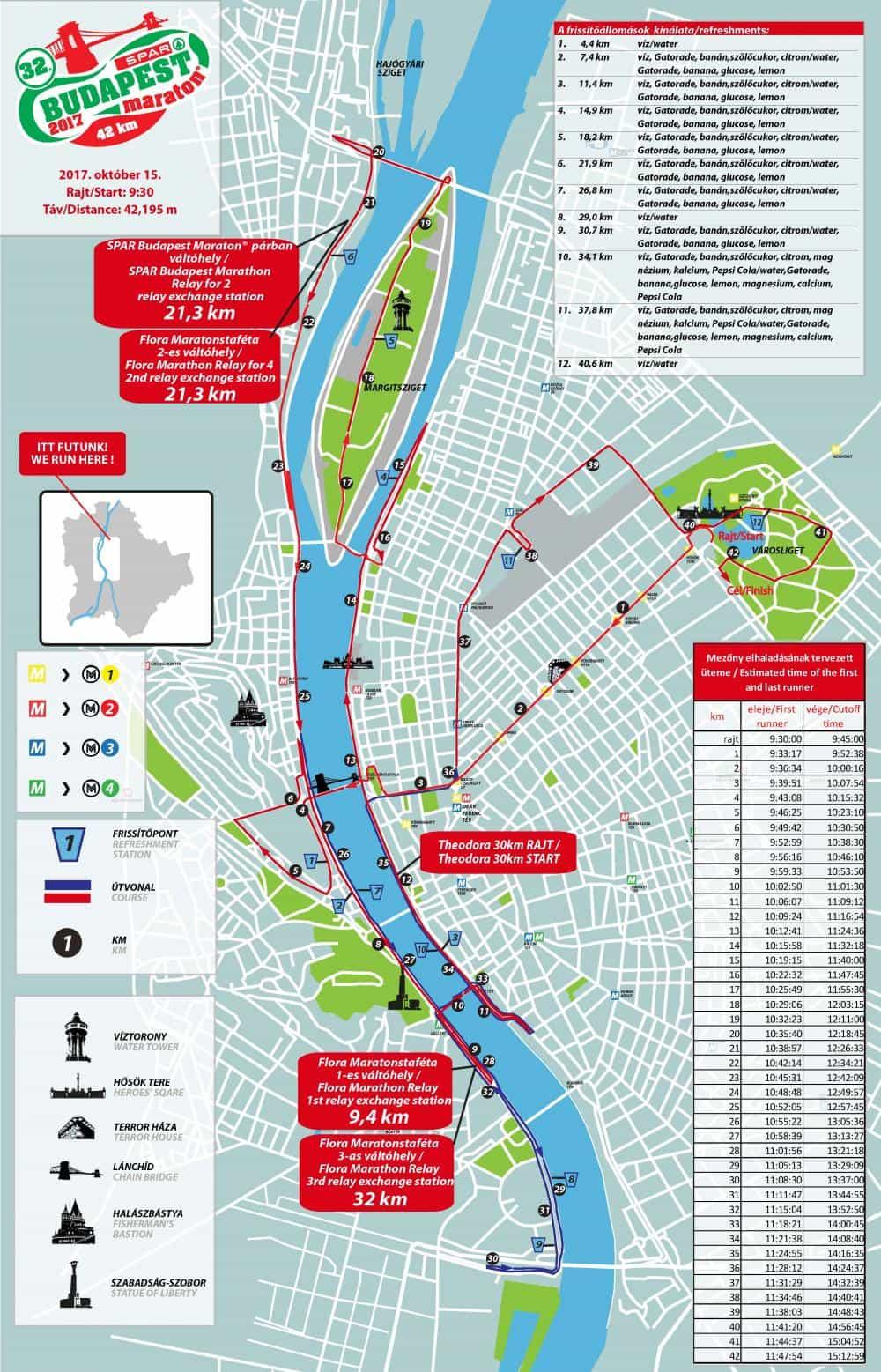 térkép budapest útvonal A 32. SPAR Budapest Maraton útvonala (térkép, animáció  térkép budapest útvonal